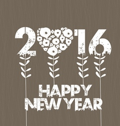 Happy new year 2016 with Stalks vector