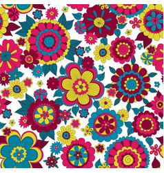 hippie flowers vector image