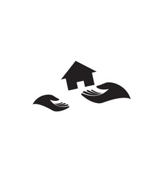 home care icon design template isolated vector image