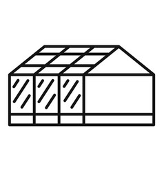 home greenhouse icon outline style vector image