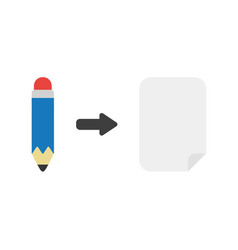icon concept of pencil with blank paper vector image