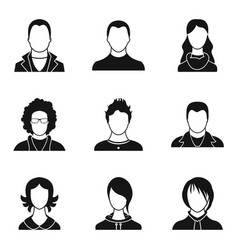 Individual person icons set simple style vector