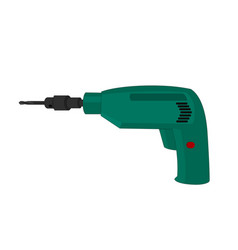 isolated electric drill tools vector image