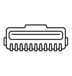 Laser cartridge icon outline style vector