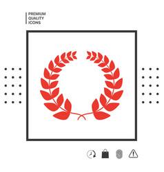 laurel wreath - for yor design vector image
