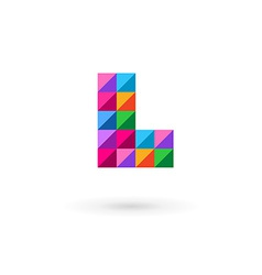 Letter l mosaic logo icon vector