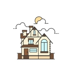 line art of house icon vector image