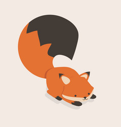 little fox cartoon vector image