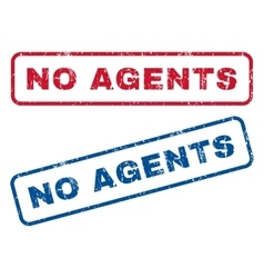 No Agents Rubber Stamps vector