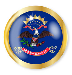 north dakota flag button vector image