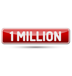 one million - abstract beautiful button with text vector image