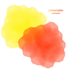 orange watercolor blotch set of orange watercolor vector image