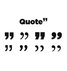 quote icon on white background vector image
