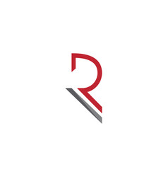 r letter logo template vector image
