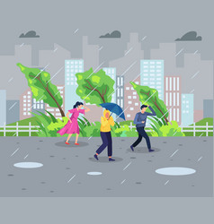 rainstorm concept vector image