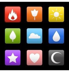Random abstract icons set vector image