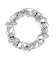 ring frame of bones anatomy background skeleton vector image
