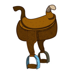 Saddle equipments for animals vector