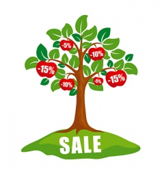 sale concept tree with discounts vector image