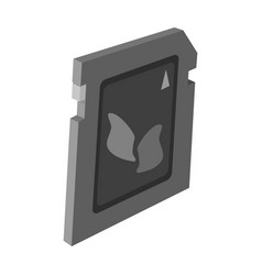 sd card icon in monochrome style isolated on white vector image