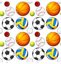 seamless ball pattern concept vector image