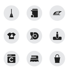 set of 9 editable hygiene icons includes symbols vector image