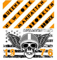 Skull motorcycle helmet poster t shirt graphic vector
