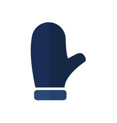 snow gloves icon vector image
