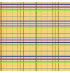 Tartan yellow seamless pattern vector image