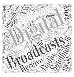 The development of digital multimedia broadcasting vector image
