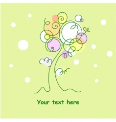 Tree flourish vector