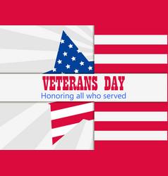 Veterans day 11th november honoring all who vector