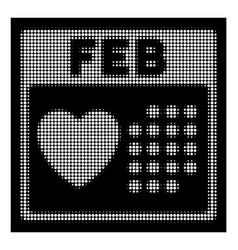 white halftone valentine february day icon vector image
