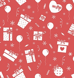 New Year party pattern 3 vector image