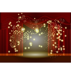 theatre stage curtain vector image vector image
