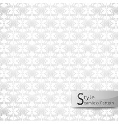 abstract seamless pattern floral mesh loop white vector image