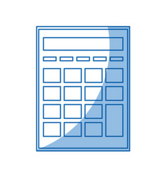 Calculator investigate research rates shadow vector