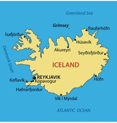 Iceland - map vector image vector image