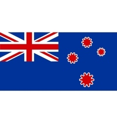 New Zealand flag with gears instead stars vector image