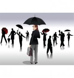 people with umbrellas vector image vector image