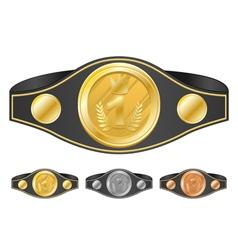 Three champion belts vector