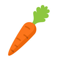 carrot flat icon vegetable and diet vector image vector image