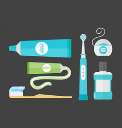 flat health care dentist chemical color medical vector image vector image