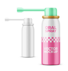 glossy oral spray bottle template vector image