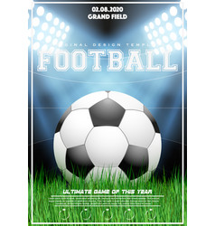 poster template of football tournament vector image
