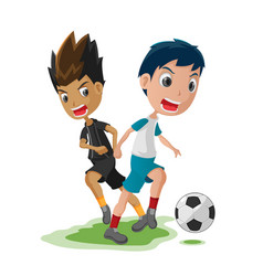 soccer player cartoon match opponent vector image vector image