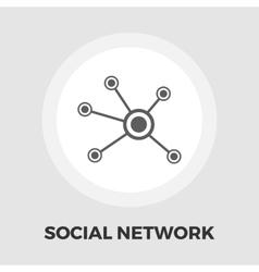 Social network icon flat vector image vector image