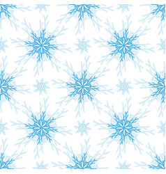 christmas pattern snowflake seamless background vector image vector image