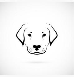 dog labrador on white background design sketch vector image