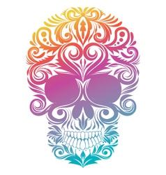 Floral Decorative Skull vector image